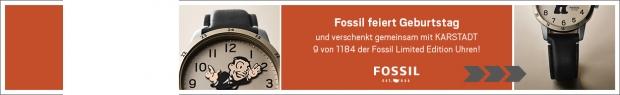 Fossil-Uhren Gewinnspiel