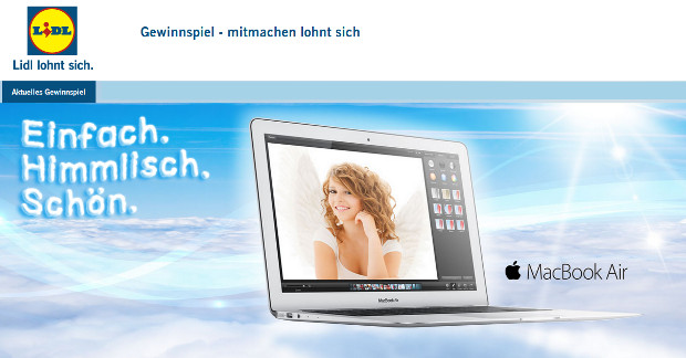 Apple MacBook Air Gewinnspiel