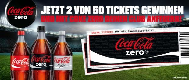 Coca-Cola zero Bundesligaticket Gewinnspiel