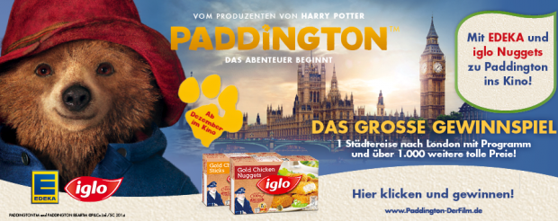 iglo paddington gewinnspiel eine london reise gewinnen. Black Bedroom Furniture Sets. Home Design Ideas