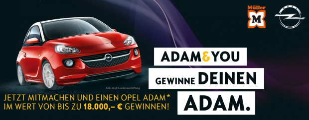 opel adam gewinnspiel einen opel adam gewinnen. Black Bedroom Furniture Sets. Home Design Ideas