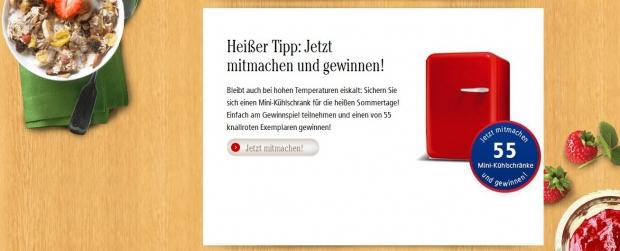 Dr.Oetker Mini-Kühlschrank Gewinnspiel