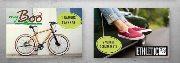 Bambus-Fahrrad Gewinnspiel